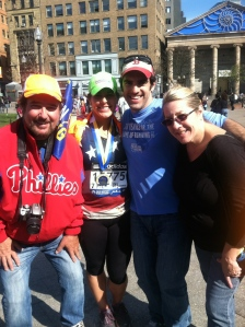 All my supports at the race! Dad, me, Craig (boyfriend), Craig's mom