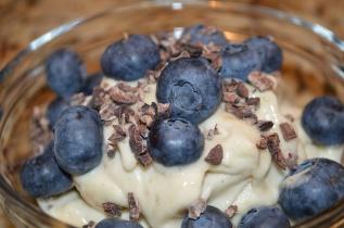 Frozen Yogurt cravings are back! Homemade banana frozen yogurt :)