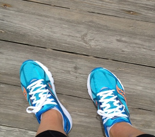 Testing out the new running kicks!