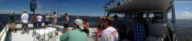 Fishing in the Chesapeake Bay ...Panoramic view of our boat!